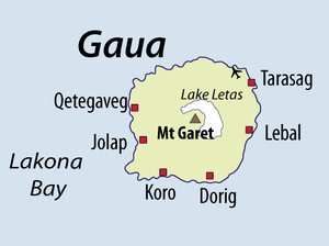 Gaua - Map of Gaua
