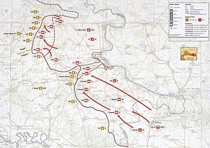 1991 Yugoslav campaign in Croatia - Image: Map 3 Croatia Eastern Slavonia September 1991 January 1992