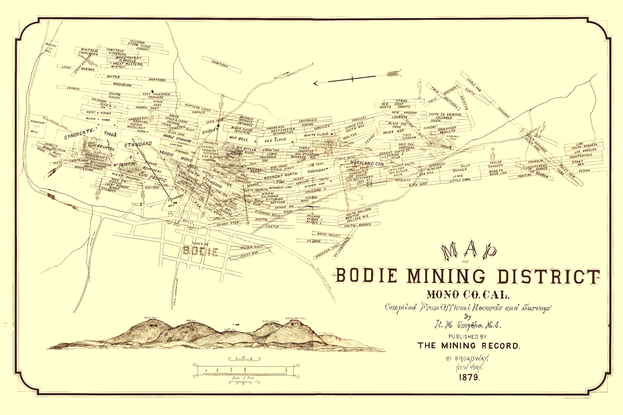 File Map Of Bodie Mining District Png Wikimedia Commons