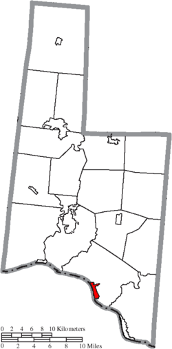 Location of Ripley in Brown County