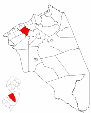 Willingboro Township, New Jersey - Image: Map of Burlington County highlighting Willingboro Township