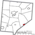 Map of Clinton County Ohio Highlighting New Vienna Village.png