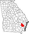 Map of Georgia highlighting Wayne County.svg