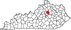 Map of Kentucky highlighting Fayette County.svg