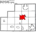 Map of Medina County Ohio Highlighting Medina City.png