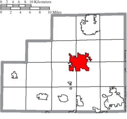 Location of Medina in Medina County