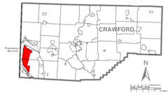 Map of Pymatuning Central, Crawford County, Pennsylvania Highlighted.png