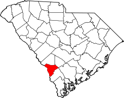 Map of South Carolina highlighting Allendale County.svg