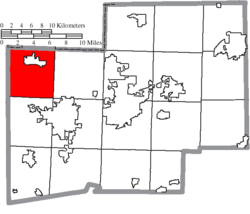 Location of Lawrence Township in Stark County