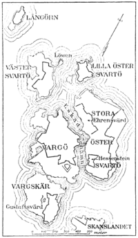 Map of Sveaborg at the 1790s