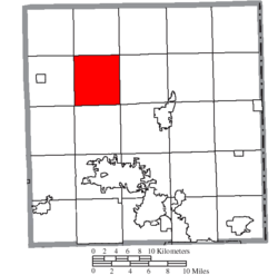 Location of Bristol Township in Trumbull County