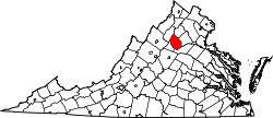 Map of Virginia highlighting Madison County.svg