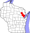 State map highlighting Oconto County