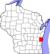 State map highlighting Sheboygan County