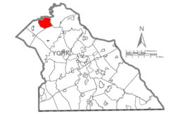 Map of York County, Pennsylvania Highlighting Monaghan Township.PNG