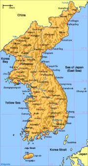 Mapa Koreje