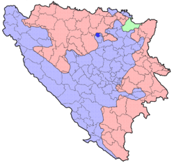Location of Usora Municipality within Bosnia and Herzegovina.