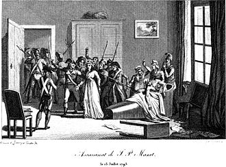 Jean-Paul Marat - The assassination of Marat by Charlotte Corday on 13 July 1793