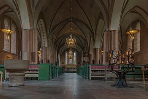 St. Mary's Church, Sigtuna - View of the interior towards the altar