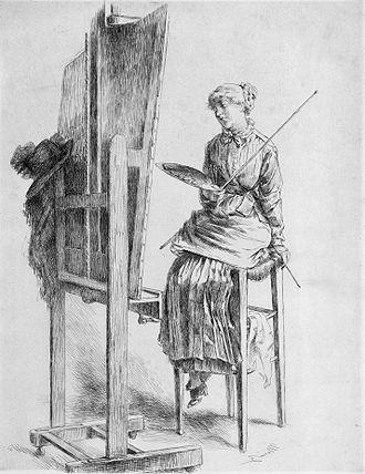 Marie Bracquemond - Marie Bracquemond, self-portrait