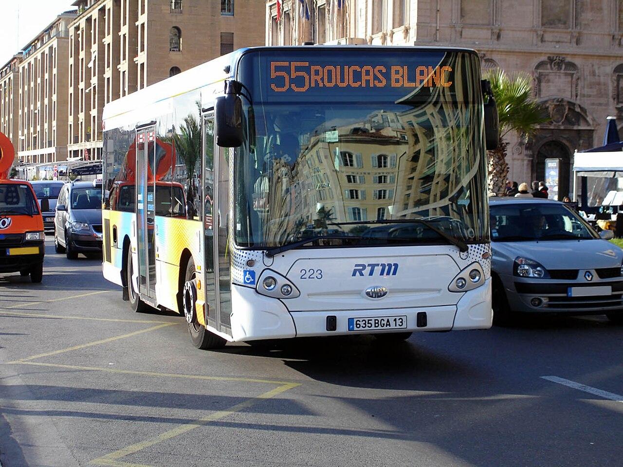 File marseille bus rtm 55 hotel de for Asptt marseille piscine