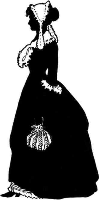 Silhouette - The only known contemporary depiction of Martha Jefferson, wife of Thomas Jefferson.
