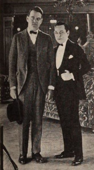 Martin Quigley (publisher) - Martin Quigley and actor Carter DeHaven in 1920