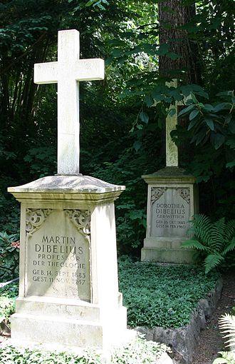 Martin Dibelius - Dibelius grave in Heidelberg