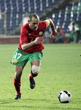 Martin Petrov - Petrov playing for Bulgaria in 2010