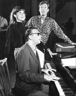 Breakfast at Tiffany's (musical) - Mary Tyler Moore and Richard Chamberlain rehearsing during the pre-Broadway run.