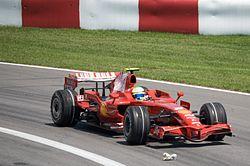 2008年カナダGPでのF2008フェリペ・マッサがドライブ