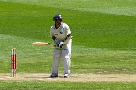Sachin Tendulkar is the only player to have scored one hundred international centuries Master Blaster at work.jpg