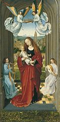 The Virgin and Child between Angels