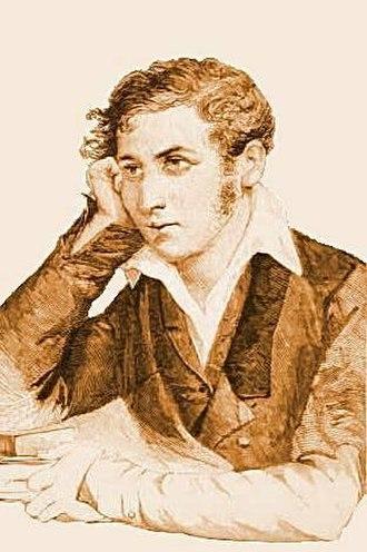 Carlo Cattaneo - Young Carlo Cattaneo in a woodcut of 1887 by Edoardo Matania