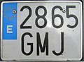 Matrícula automovilística España 2000 2865 GMJ motocicleta.jpg