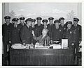 Mayor John F. Collins swears in new Santitation Inspectors (13561453903).jpg
