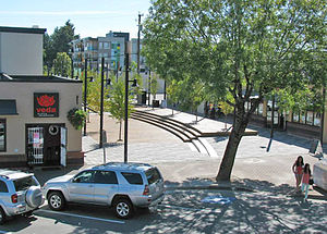Langley, British Columbia (city) - McBurney Plaza in Downtown Langley
