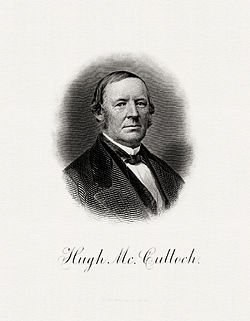 McCULLOCH, Hugh-Treasury (BEP engraved portrait)