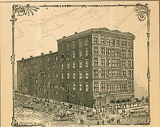McVicker's Theater - Printed image from McVicker's observanda; containing a graphic historical sketch of McVicker's theatre from its inception to the present date (1891)