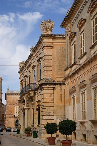 National Archives of Malta - Legal Documentation Section of the National Archives of Malta at the Banca Giuratale of Mdina.