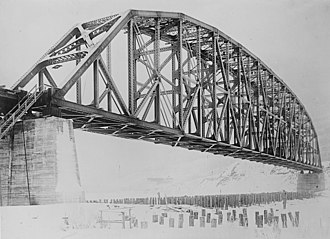 Mears Memorial Bridge - View of bridge shortly after completion in 1923