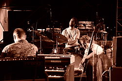 Medeski Martin & Wood performing at the 2006 Jazzfest in Sioux Falls, South Dakota, USA