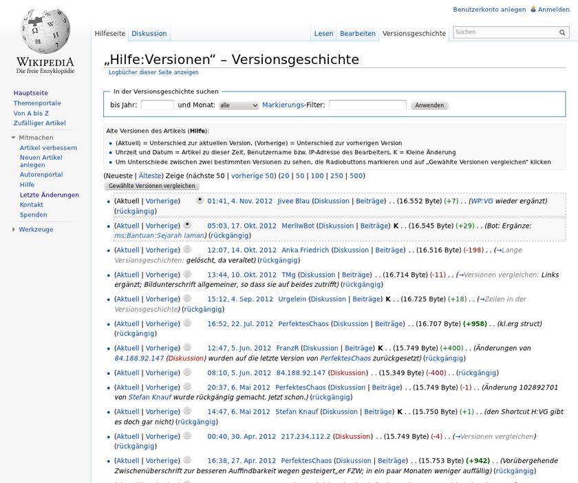 Hilfe:Versionen - Wikiwand