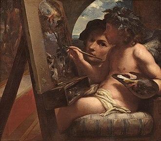 Livio Mehus - Allegory of painting