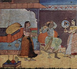 Keshavdas - An illustration from Rasikapriya, 1610.