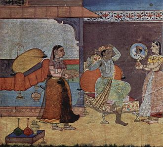 Keshavdas - An illustration from Rasikapriya, 1610.