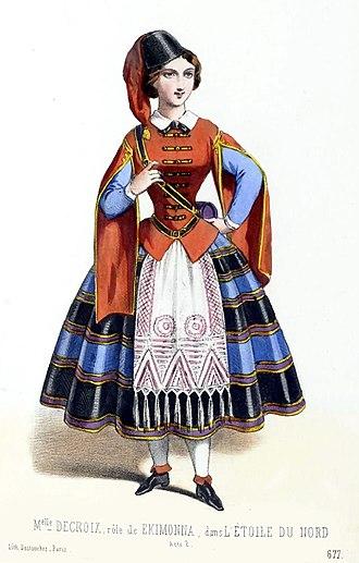 L'étoile du nord - Marguerite Decroix as a vivandière in the original production