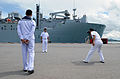 Members of the Royal Thai Navy take photos as the dry cargo and ship USNS Washington Chambers (T-AKE 11) arrives in Chuk Samaet, Thailand June 3, 2013, in support of Cooperation Afloat Readiness and Training 130603-N-YU572-106.jpg