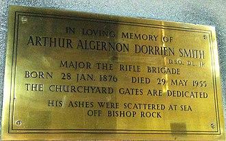 Arthur Algernon Dorrien-Smith - Memorial to Arthur Algernon Dorrien Smith in St Nicholas's Church, Tresco