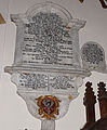 Memorial to Susanna Godolphin wife of Col Sidney Godolphin in Llanyblodwel church.jpg